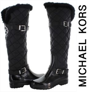 Michael Kors Fulton Black Quilted Winter Boots